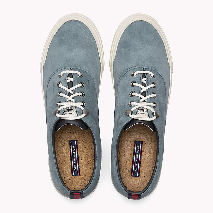 TOMMY HILFIGER Heritage Suede Trainers - MIDNIGHT - TOMMY HILFIGER Men - detail image 3