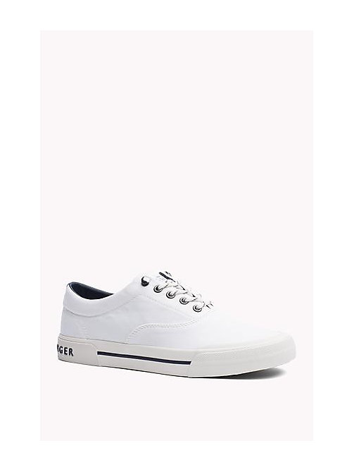 TOMMY HILFIGER Heritage Suede Trainers - WHITE - TOMMY HILFIGER Sustainable Evolution - imagen principal