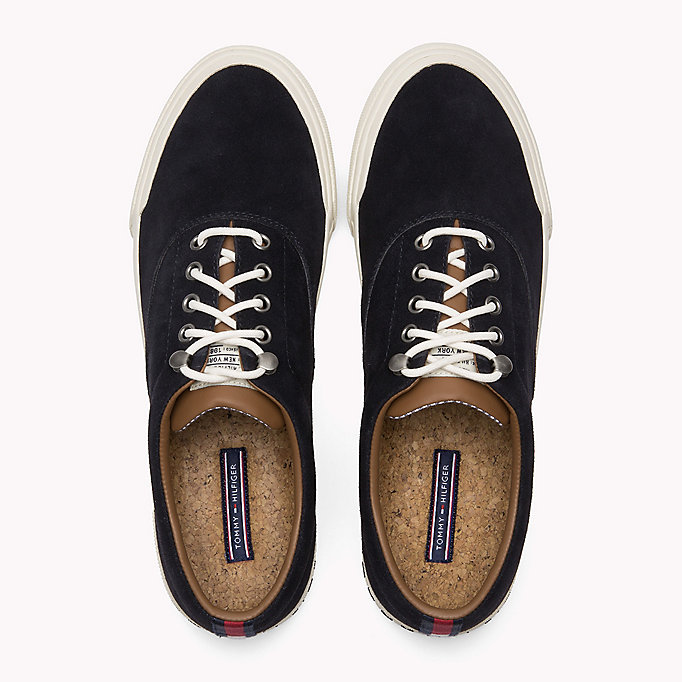 TOMMY HILFIGER Heritage Suede Trainers - DUSTY OLIVE - TOMMY HILFIGER Men - detail image 3