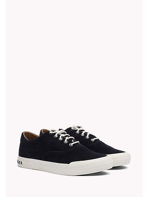 TOMMY HILFIGER Heritage Suede Trainers - MIDNIGHT - TOMMY HILFIGER Sustainable Evolution - main image