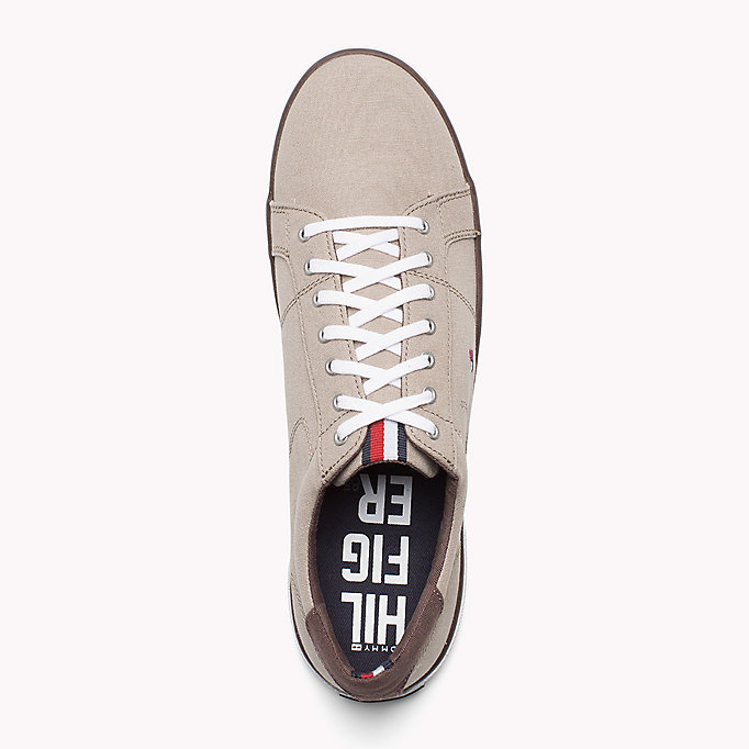 TOMMY HILFIGER Canvas Sneaker - STEEL GREY - TOMMY HILFIGER Men - detail image 1