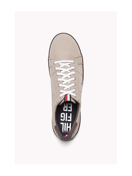TOMMY HILFIGER Canvas Sneaker - COBBLESTONE - TOMMY HILFIGER Trainers - detail image 1