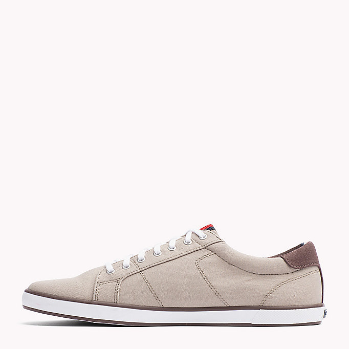 TOMMY HILFIGER Canvas Sneaker - STEEL GREY - TOMMY HILFIGER Men - detail image 2