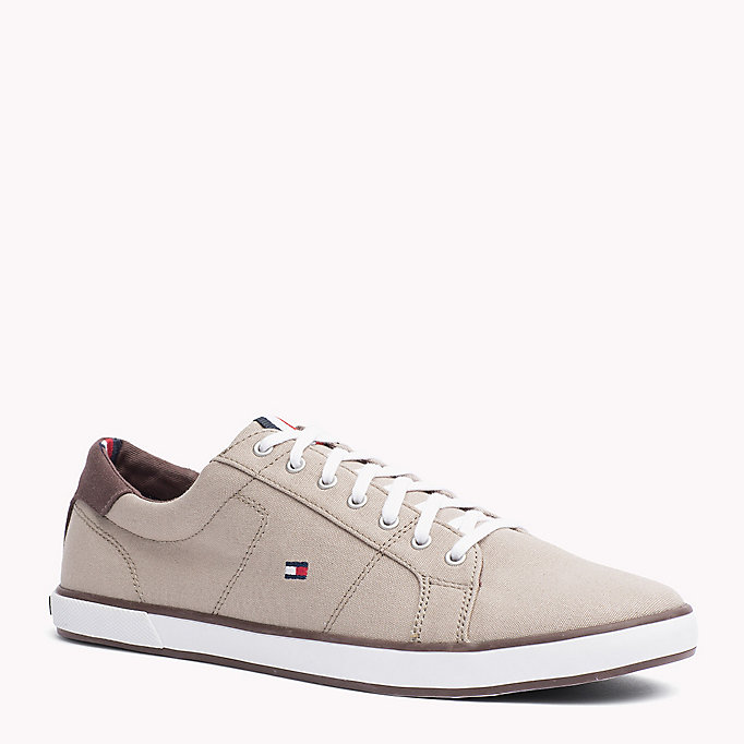 TOMMY HILFIGER Canvas Sneaker - STEEL GREY - TOMMY HILFIGER Men - main image