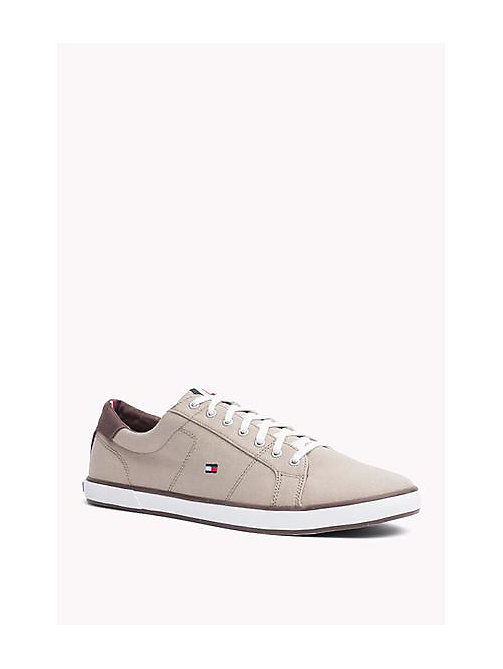 TOMMY HILFIGER Canvas Sneaker - COBBLESTONE - TOMMY HILFIGER Trainers - main image