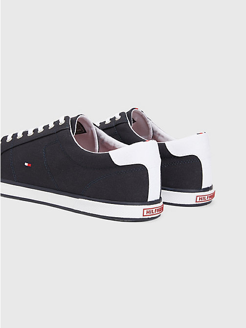 TOMMY HILFIGER Canvas Lace Up Trainers - MIDNIGHT - TOMMY HILFIGER Trainers - detail image 1