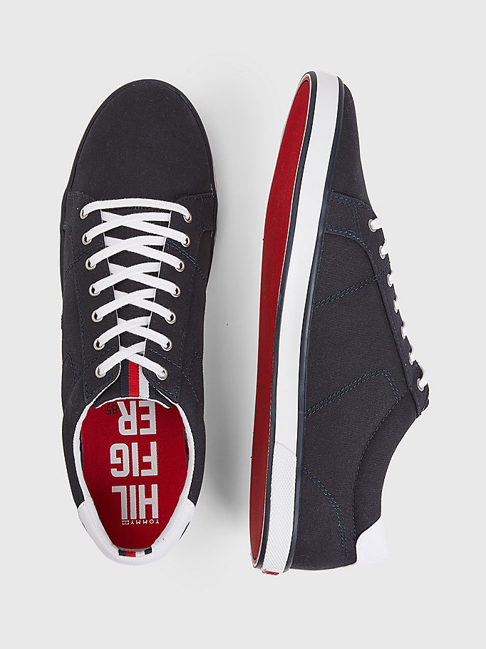 TOMMY HILFIGER Canvas Sneaker - BLACK - TOMMY HILFIGER Men - detail image 3