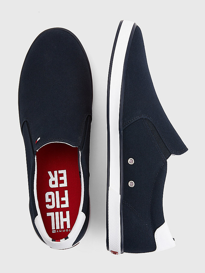 TOMMY HILFIGER Slip-On Trainers - WHITE - TOMMY HILFIGER Men - detail image 3
