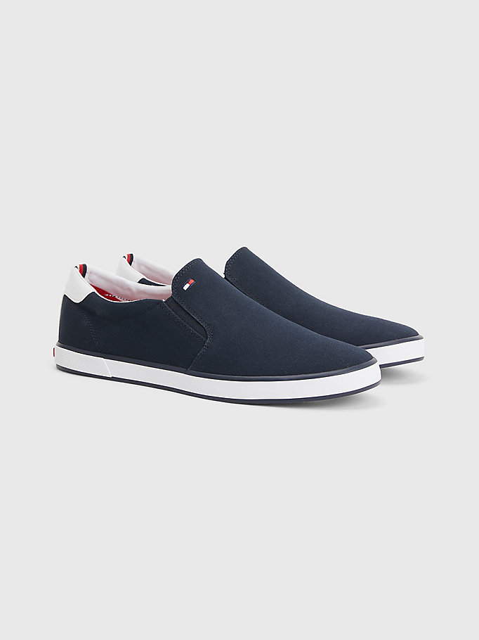 blue slip-on trainers for men tommy hilfiger