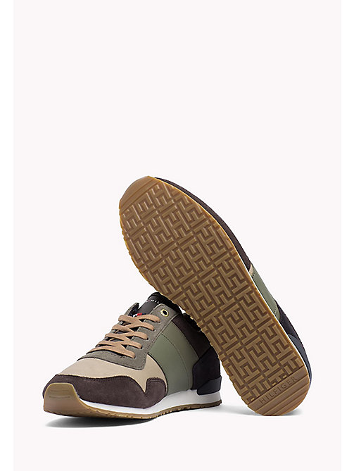 TOMMY HILFIGER Sneakers in color block - COFFEEBEAN-DUSTY OLIVE - TOMMY HILFIGER Sneakers - dettaglio immagine 1