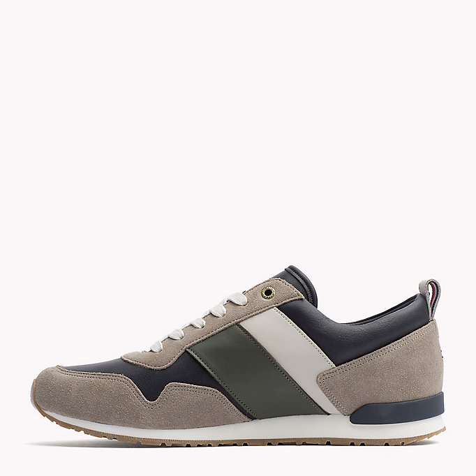 TOMMY HILFIGER Colour-blocked sneaker - COFFEEBEAN-DUSTY OLIVE - TOMMY HILFIGER Heren - detail image 2