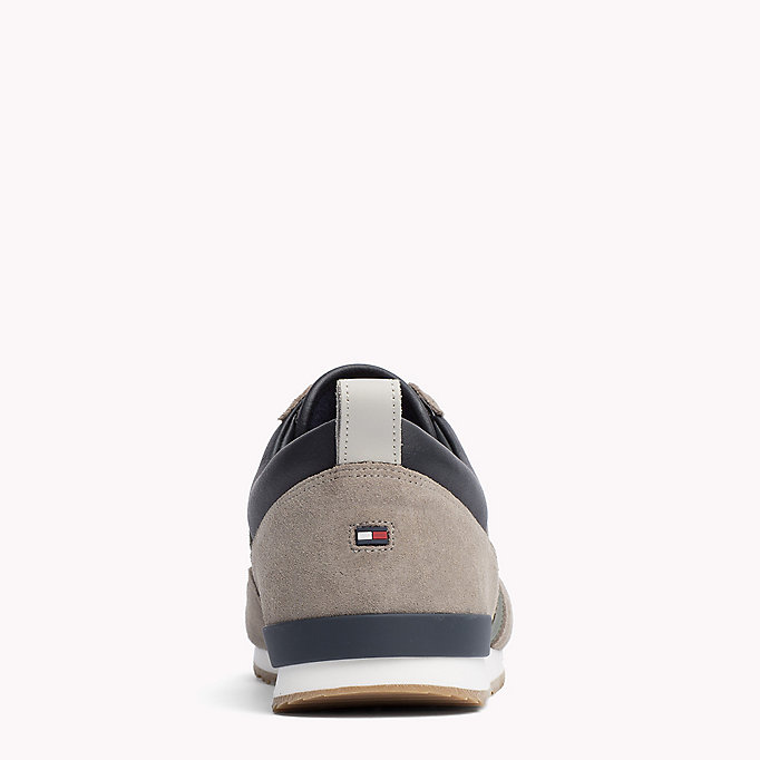 TOMMY HILFIGER Colour-blocked sneaker - COFFEEBEAN-DUSTY OLIVE - TOMMY HILFIGER Heren - detail image 3
