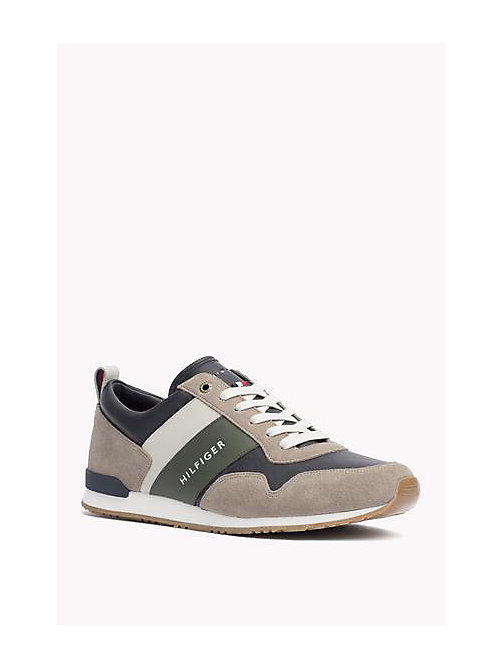TOMMY HILFIGER Colour-Blocked Trainers - COBBLESTONE-MIDNIGHT - TOMMY HILFIGER Nieuw Binnen - main image