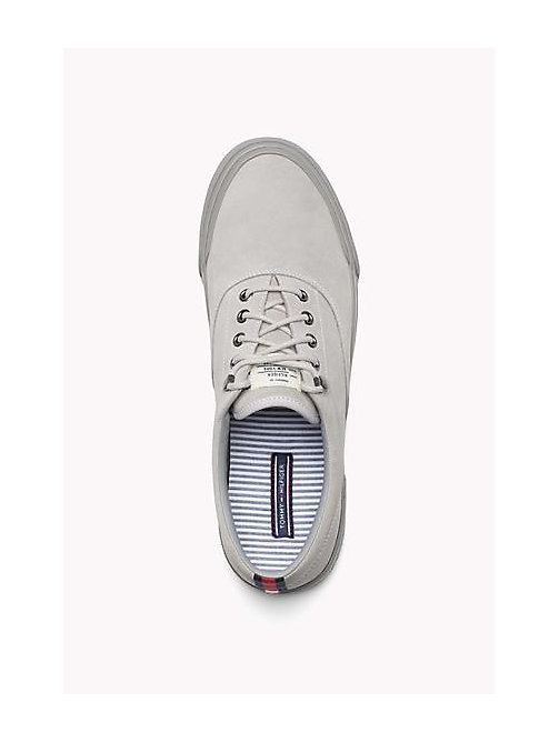 TOMMY HILFIGER Suede Lace-Up Sneaker - DIAMOND GREY - TOMMY HILFIGER Shoes - detail image 1