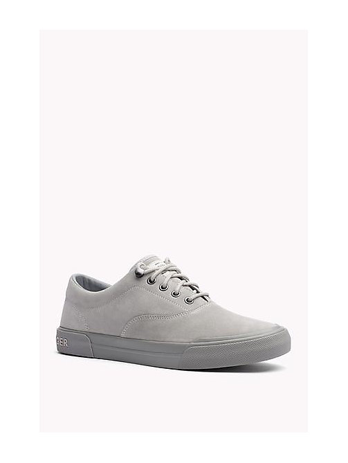 TOMMY HILFIGER Suede Lace-Up Sneaker - DIAMOND GREY - TOMMY HILFIGER Shoes - main image