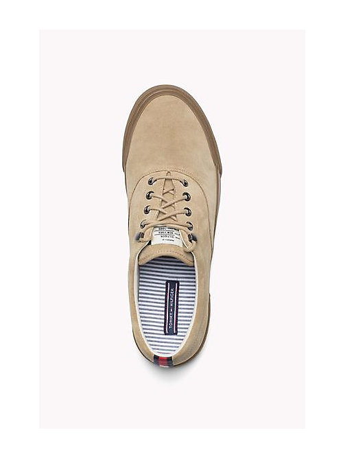 TOMMY HILFIGER Suede Lace-Up Sneaker - CASHMERE - TOMMY HILFIGER Shoes - detail image 1
