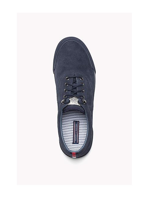 TOMMY HILFIGER Suede Lace-Up Sneaker - TOMMY NAVY - TOMMY HILFIGER Shoes - detail image 1