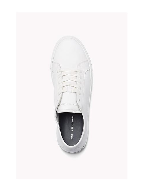 TOMMY HILFIGER Leather Lace-Up Sneaker - WHITE - TOMMY HILFIGER Shoes - detail image 1