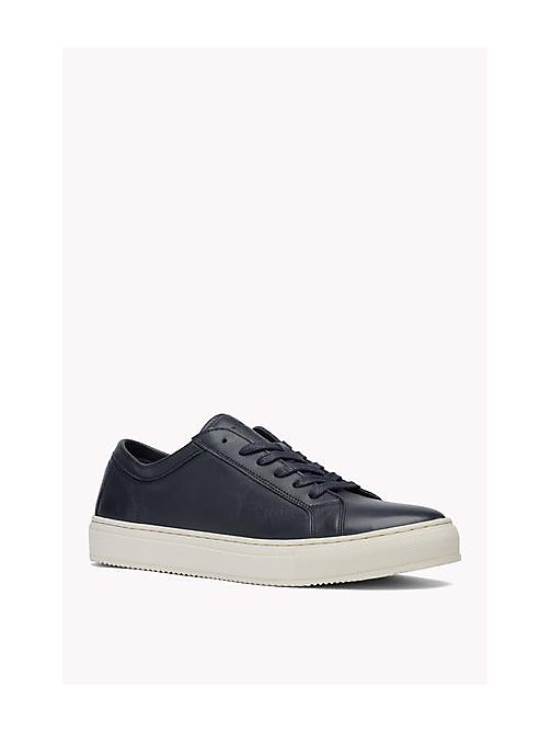 TOMMY HILFIGER Leather Lace-Up Sneaker - MIDNIGHT - TOMMY HILFIGER Shoes - main image