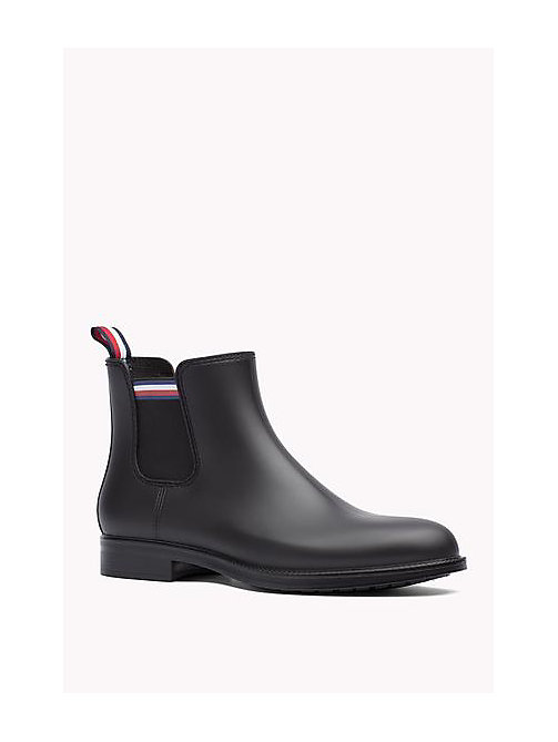 TOMMY HILFIGER Ankle Rubber Boot - BLACK - TOMMY HILFIGER Shoes - main image