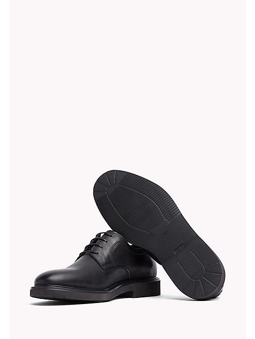 TOMMY HILFIGER Leather Lace Up Shoe - BLACK - TOMMY HILFIGER Shoes - detail image 1