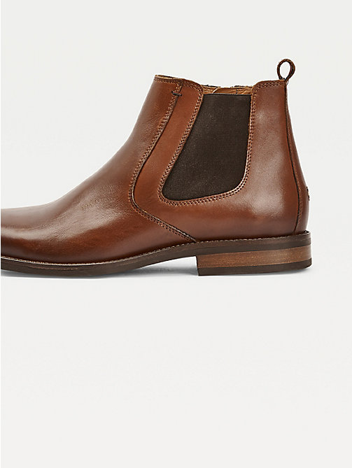TOMMY HILFIGER Leather Chelsea Boots - WINTER COGNAC - TOMMY HILFIGER Chelsea Boots - detail image 1