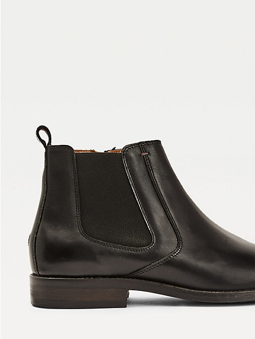 TOMMY HILFIGER Leather Chelsea Boots - BLACK -  Boots - detail image 1