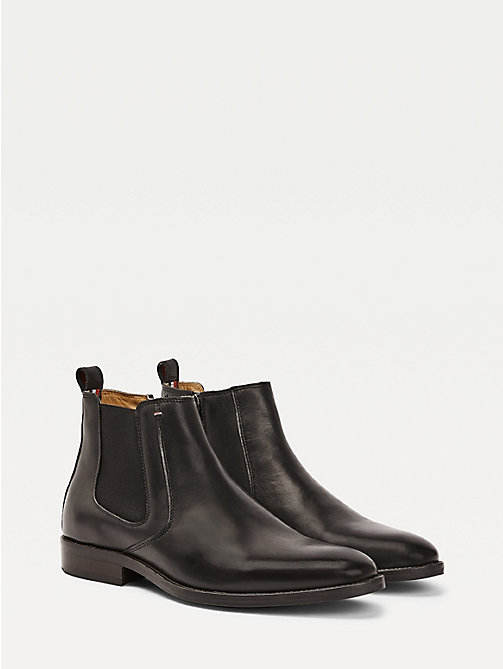 TOMMY HILFIGER Leather Chelsea Boots - BLACK -  Boots - main image