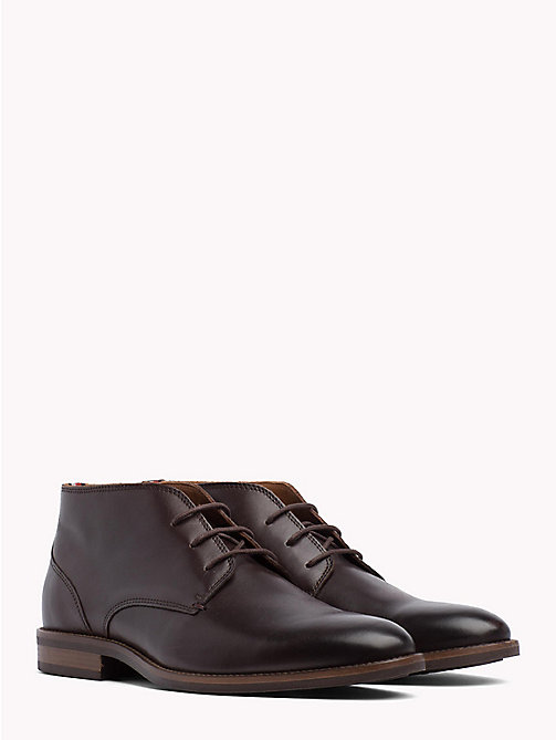 TOMMY HILFIGER Leather Lace-Up Boots - COFFEE - TOMMY HILFIGER Best Sellers - main image