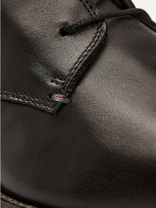 TOMMY HILFIGER Leather Lace-Up Boots - BLACK - TOMMY HILFIGER Shoes - detail image 1