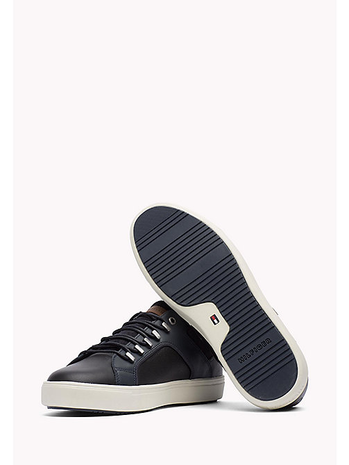 TOMMY HILFIGER Leather Sneaker - MIDNIGHT - TOMMY HILFIGER Shoes - detail image 1