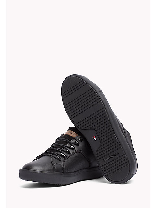 TOMMY HILFIGER Leather Sneaker - BLACK - TOMMY HILFIGER Shoes - detail image 1