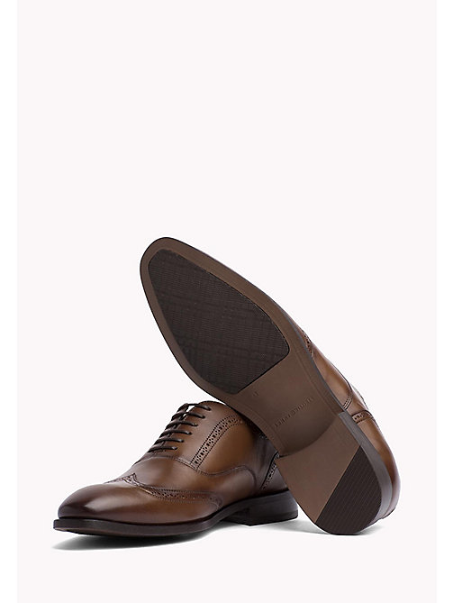 TOMMY HILFIGER Classic Leather Brogues - BRANDY - TOMMY HILFIGER Tailored - detail image 1