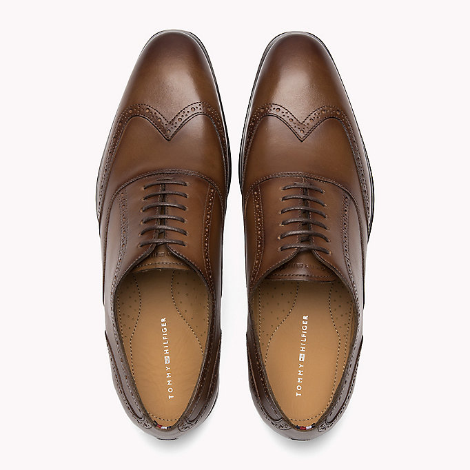 TOMMY HILFIGER Classic Leather Brogues - BLACK - TOMMY HILFIGER Men - detail image 3