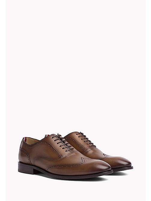 TOMMY HILFIGER Classic Leather Brogues - BRANDY - TOMMY HILFIGER Shoes - main image