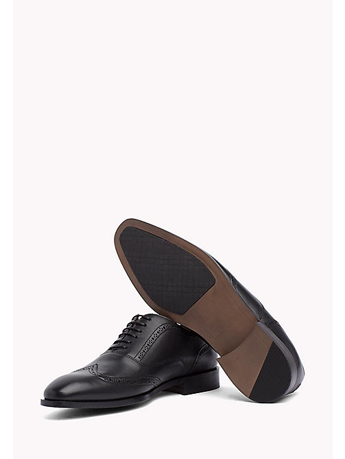 TOMMY HILFIGER Classic Leather Brogues - BLACK - TOMMY HILFIGER Tailored - detail image 1