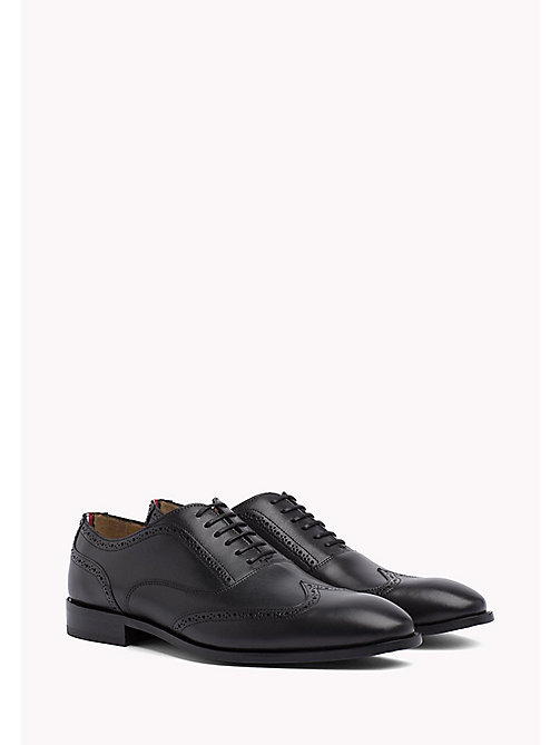 Classic Leather Brogues - BLACK - TOMMY HILFIGER Shoes - main image