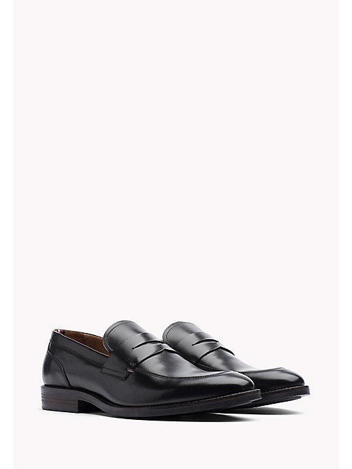 TOMMY HILFIGER Leather Dress Shoe - BLACK - TOMMY HILFIGER Shoes - main image