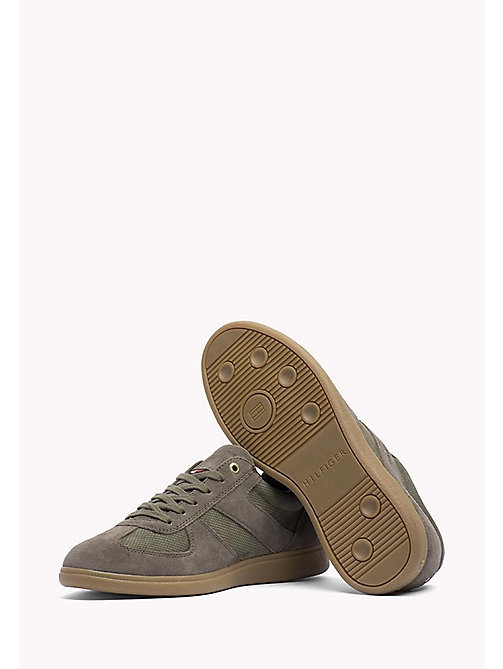 TOMMY HILFIGER Suede Sneaker - DUSTY OLIVE - TOMMY HILFIGER Shoes - detail image 1