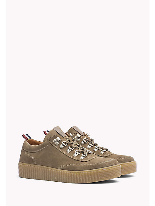 TOMMY JEANS Suede Sneaker - TIMBER WOLF - TOMMY JEANS Shoes - main image