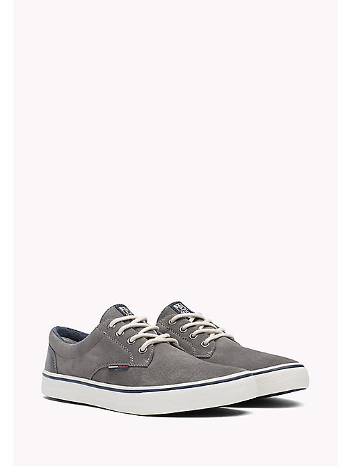 TOMMY JEANS Suede Sneaker - CITY GREY - TOMMY JEANS Shoes - main image