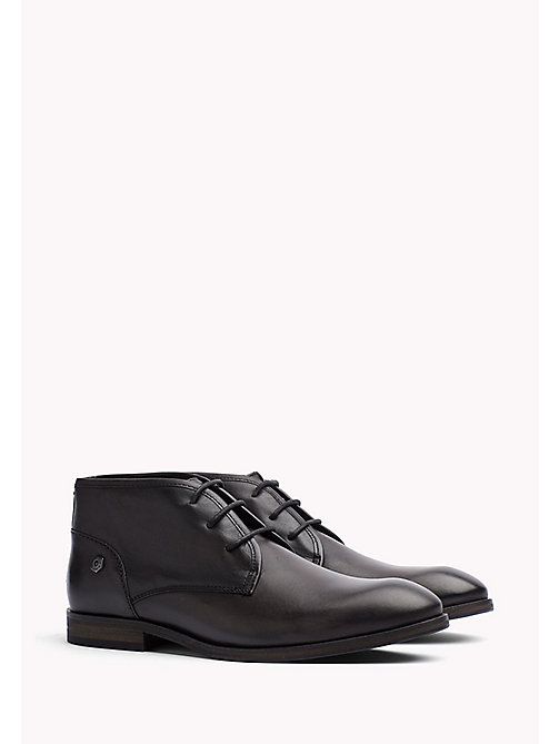 TOMMY JEANS Leather Ankle Boot - BLACK - TOMMY JEANS Shoes - main image