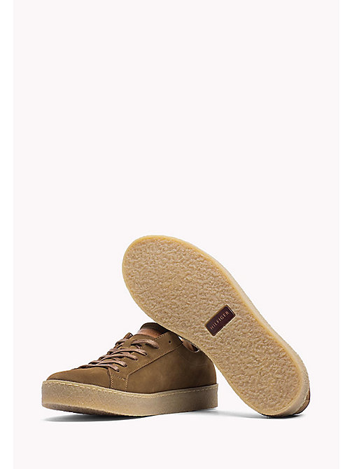 TOMMY HILFIGER Suede Sneaker - TABACCO - TOMMY HILFIGER Shoes - detail image 1
