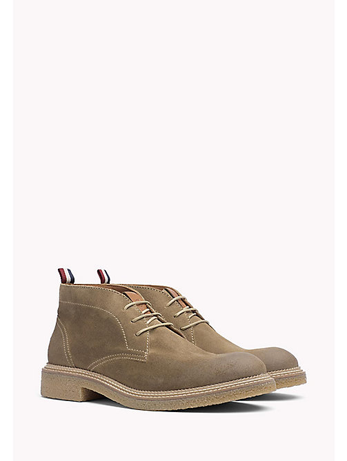 TOMMY JEANS Suede Ankle Boot - TIMBER WOLF - TOMMY JEANS Shoes - main image