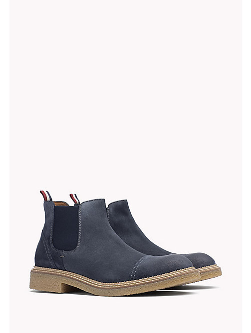 TOMMY JEANS Suede Ankle Boot - INK - TOMMY JEANS Shoes - main image
