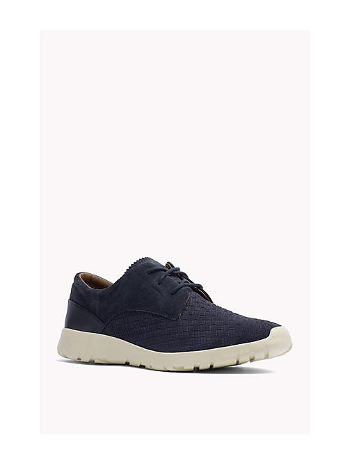 TOMMY HILFIGER Suede Lace-Up Sneaker - TOMMY NAVY - TOMMY HILFIGER Shoes - main image