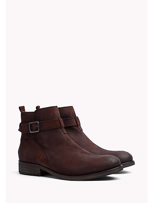 TOMMY JEANS Suede Ankle Boot - WINTER COGNAC - TOMMY JEANS Shoes - main image
