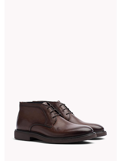 TOMMY HILFIGER Leather Lace Up Shoe - WINTER COGNAC - TOMMY HILFIGER Shoes - main image