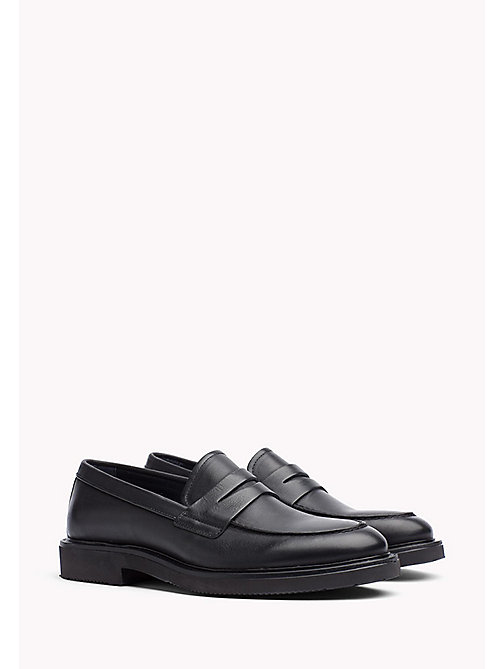 TOMMY HILFIGER Leather Lace Up Shoe - BLACK - TOMMY HILFIGER Shoes - main image