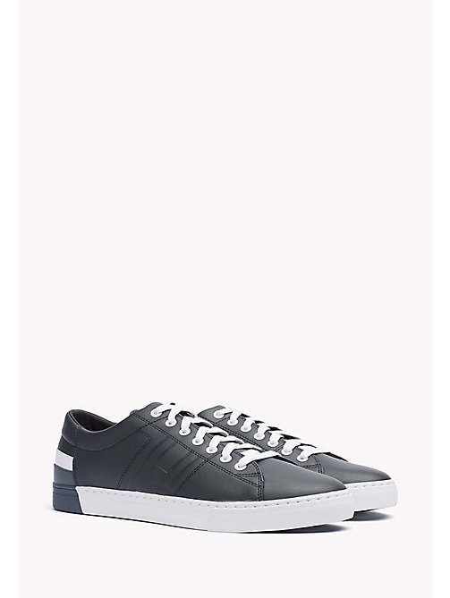 TOMMY HILFIGER Leather Sneaker - MIDNIGHT - TOMMY HILFIGER Shoes - main image